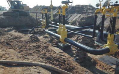 Construction of the Lwówek-Odolanów  gas pipeline